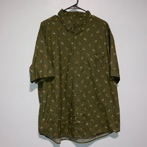 Woolrich Olive Green Fish Lures Shirt